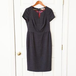 Boden Polka Dot Wool Tulip Dress - 8L